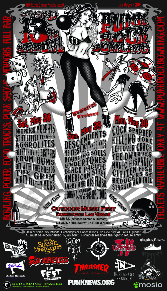 2011 Punk Rock Bowling poster line up